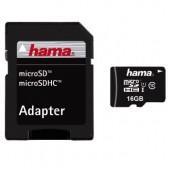 Card microSDHC 16GB class 10 + adaptor HAMA