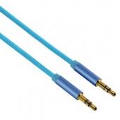 Cablu audio Jack-Jack 3.5mm pentru smartphone Gold-Plated 1.5m albastru HAMA Color