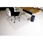 Protectie podea pentru covoare forma O 150 x 120cm RS OFFICE EcoBlue