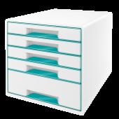 Cabinet cu sertare 5 sertare alb/turcoaz LEITZ WOW