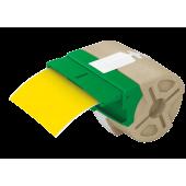 Cartus plastic 88mmx10m plastic galben adeziv permanent LEITZ Icon