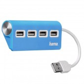Hub USB HAMA 4 porturi albastru