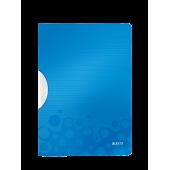 Dosar din plastic cu clip albastru metalizat LEITZ WOW ColorClip