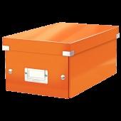 Cutie pentru DVD-uri portocaliu LEITZ Click & Store