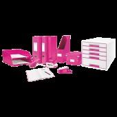 Cutie pentru DVD-uri roz LEITZ Click & Store