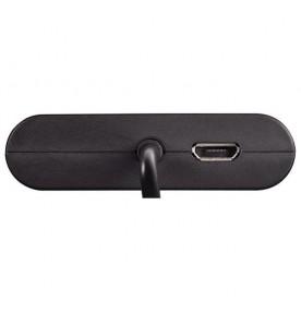 Hub USB 2.0 2 porturi OTG negru HAMA