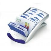 Clasor pentru 200 carti de vizita argintiu DURABLE Visifix Desk