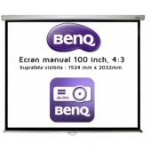 Ecran de proiectie pentru perete manual 100inch 203.2 x 152.4cm 4:3 BENQ