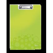 Clipboard A4 cu coperta verde metalizat LEITZ WOW