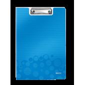 Clipboard A4 cu coperta albastru metalizat LEITZ WOW