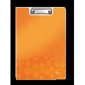Clipboard A4 cu coperta portocaliu metalizat LEITZ WOW