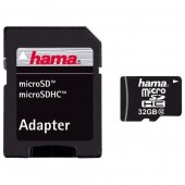 Card de memorie microSD 32GB Clasa 10 + adaptor HAMA