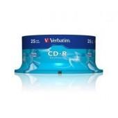 CD-R 700MB 52X 25 buc/bulk VERBATIM Extra Protection