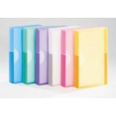 Clasor pentru 240 carti de vizita roz semitransparent TARIFOLD