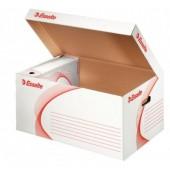 Container pentru arhivare cu deschidere superioara 560 x 275 x 370 mm alb ESSELTE