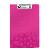 Clipboard A4 cu coperta roz metalizat LEITZ WOW
