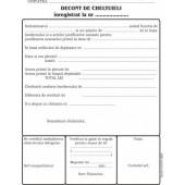 Decont cheltuieli A5 tipar fata/verso 100 file/carnet