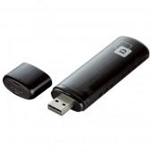 Adaptor USB Wireless Dual-Band 300 + 867Mbps negru D-LINK AC 1200 DWA-182