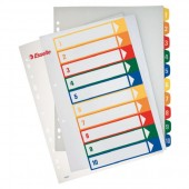Separatoare din plastic cu index imprimabil A4 1-10 ESSELTE