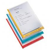 File din plastic A4 transparent cu eticheta orizontala 6 buc/set ESSELTE Desk Free