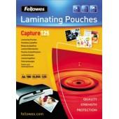 Folie laminare 65 x 95mm 125 microni 100 folii/cutie FELLOWES Capture125