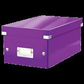 Cutie pentru DVD-uri mov LEITZ Click & Store