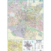 Harta plastifiata Bucuresti plan oras administrativ-rutiera 140 x 100cm AMCO PRESS