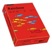Hartie colorata A4 160 g/mp 250 coli/top rosu intens (intensive red) RAINBOW