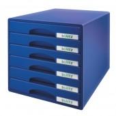 Cabinet cu sertare 6 sertare albastru LEITZ Plus