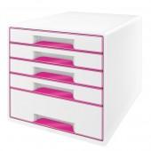 Cabinet cu sertare 5 sertare alb/roz LEITZ WOW