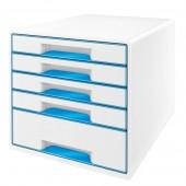 Cabinet cu sertare 5 sertare alb/albastru LEITZ WOW