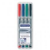 Marker non-permanent 0.4mm rosu STAEDTLER Lumocolor