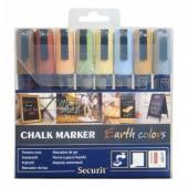 Marker cu creta 8 culori/set SECURIT SMA510