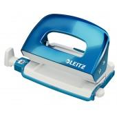Perforator 10 coli 1 mm cutie albastru metalizat LEITZ MINI 5060