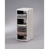 Stand pentru 25 CD/DVD-uri gri deschis FELLOWES