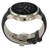SmartWatch VECTOR Watch Luna champagne gold curea neagra din piele croco