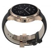 SmartWatch VECTOR Watch Luna rose gold curea neagra din piele croco