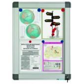 Avizier interior/exterior Recto, tabla alba magnetica, 10 x A4, 60 x 106 cm, SMIT