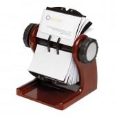 Fisier rotativ din lemn pentru 400 carti de vizita 67 x 102mm, ROLODEX - mahon