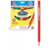 Creioane colorate, hexagonale, 24 culori/cutie, CARIOCA