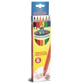 Creioane colorate, hexagonale, 6 culori/cutie, CARIOCA