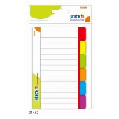 Divider notes autoadeziv liniat cu 6 separatoare, 148 x 98 mm, 60 file, Stick