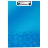 Clipboard dublu LEITZ Wow, polyfoam - albastru metalizat