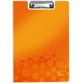 Clipboard dublu LEITZ Wow, polyfoam - portocaliu metalizat