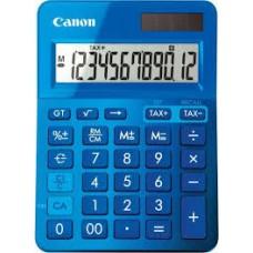 Calculator birou, 12 Digits, CANON LS 123 color , 145 x 104 x 25 mm - bleu
