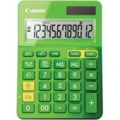 Calculator birou, 12 Digits, CANON LS 123 color , 145 x 104 x 25 mm - verde