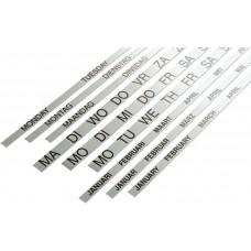 Banda magnetica numere saptamani pentru planner saptamanal 60 x120, SMIT