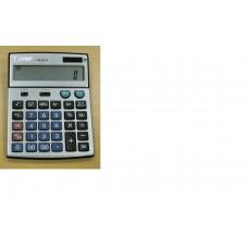 Calculator 14 dig. cu tasta de verificare si corectare pas cu pas, cu carcasa argintie