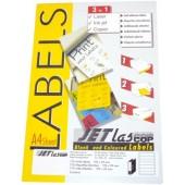 Etichete autoadezive pentru biblioraft 5 cm, 7/A4, 192 x 38 mm, 25 coli/top, JETLASCOP - albe