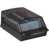 Fisier liniar VIP, cu capac, cu 500 carduri 57 x 102mm pentru adrese, ROLODEX - negru